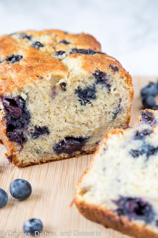 Best banana bread recipe full of blueberries