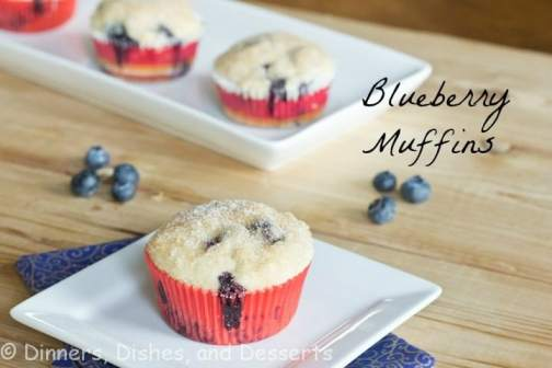 blueberry muffin sitting on top of a wooden table
