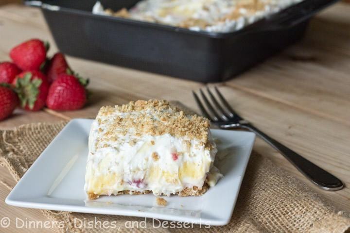 Strawberries and Cream on a graham cracker crust