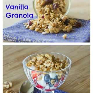 Vanilla Granola {Dinners, Dishes, and Desserts}