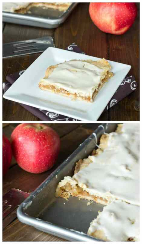 Apple Bars - recipe straight from Grandma! Flakey crust with cinnamon, apples and topped with a delicious glaze!