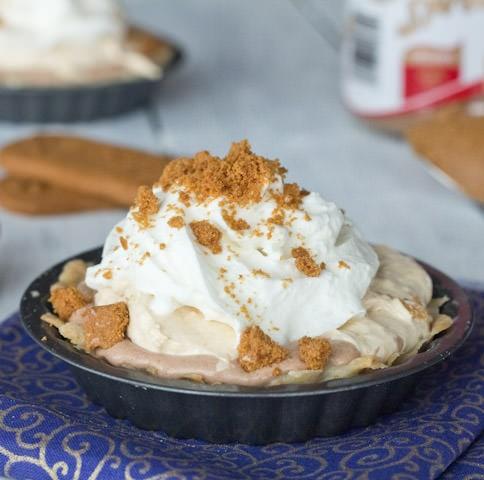 Biscoff Mousse Cream Pie
