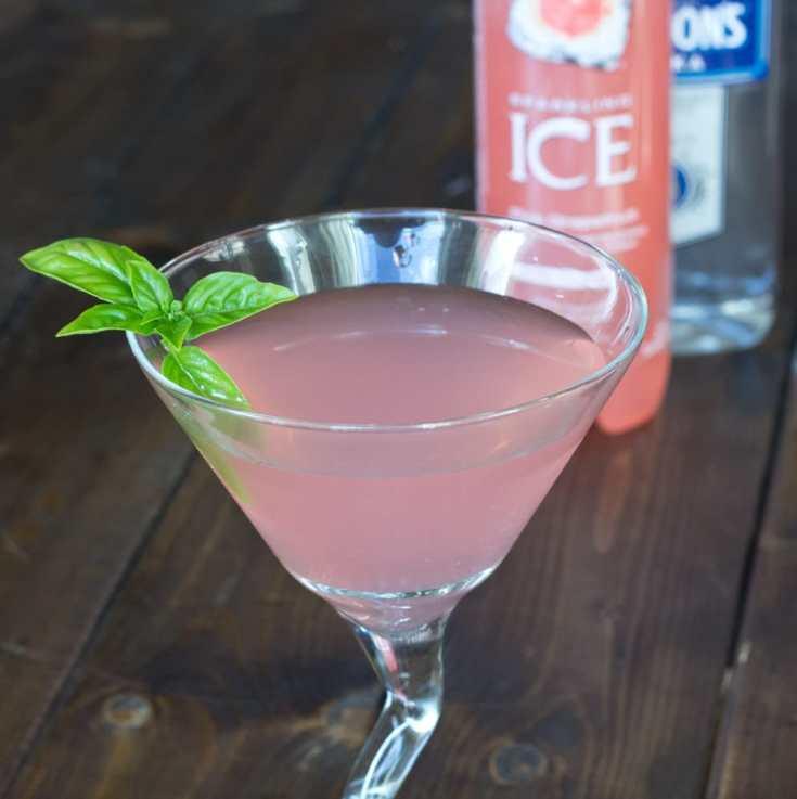 Grapefruit Basil Martini