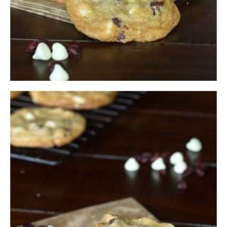Cranberry White Chocolate Chip Cookies - soft and chewy cookies