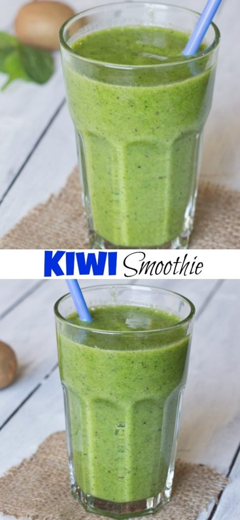 Kiwi Smoothie with spinach