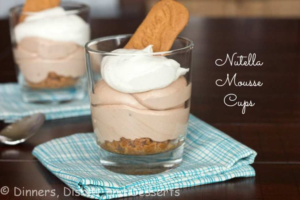 Nutella Mousse Cups