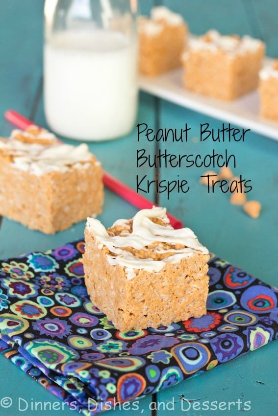 Peanut Butter Butterscotch Krispy Treats