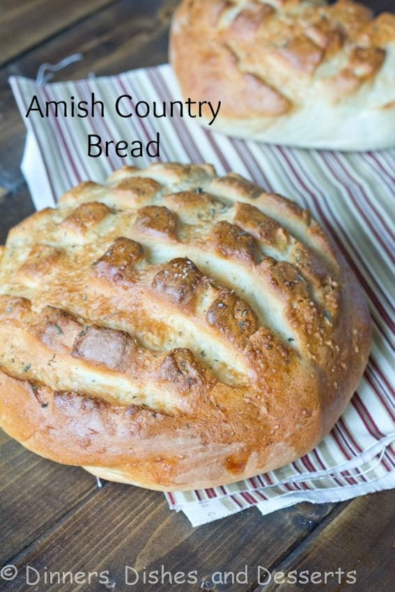 amish country bread on a napkin