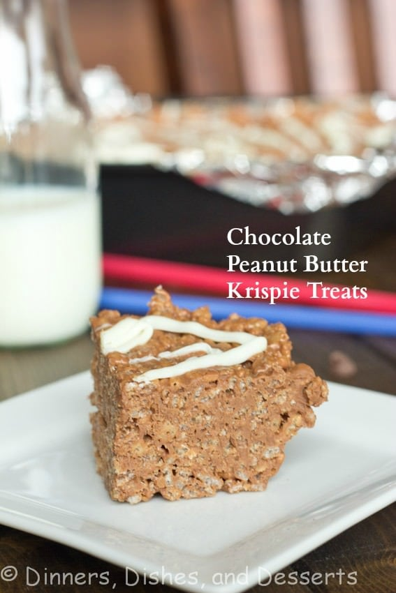 Chocolate Peanut Butter Krispie Treat