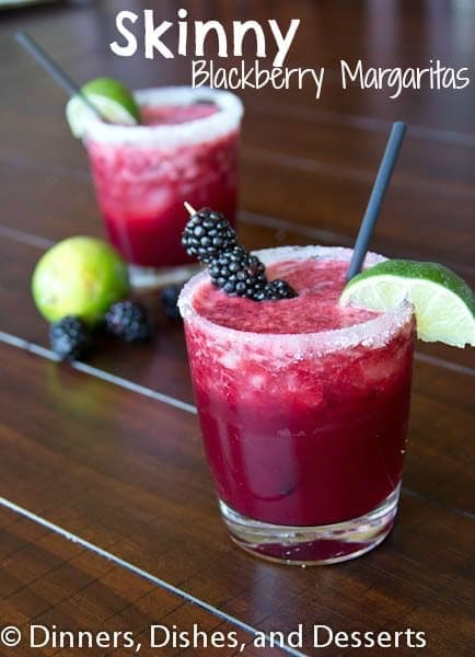 Skinny Blackberry Margaritas | Dinners, Dishes, and Desserts