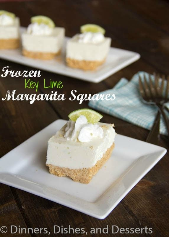 Key Lime Margarita Squares #recipe | Dinners, Dishes, and Desserts