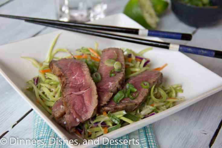 thai beef salad on a plate