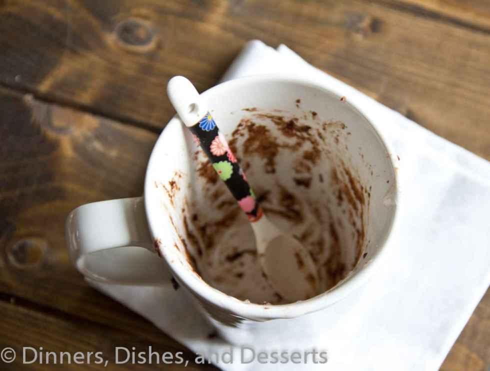 Chocolate Mug Cake w/ Cherry Whipped Cream  #recipe #chocolateparty