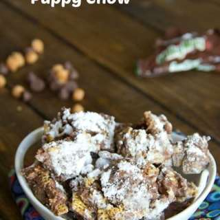 milky way puppy chow in a bowl