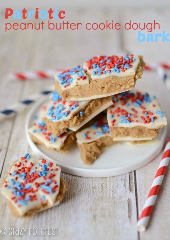 patriotic-pb-cookie-dough-bark