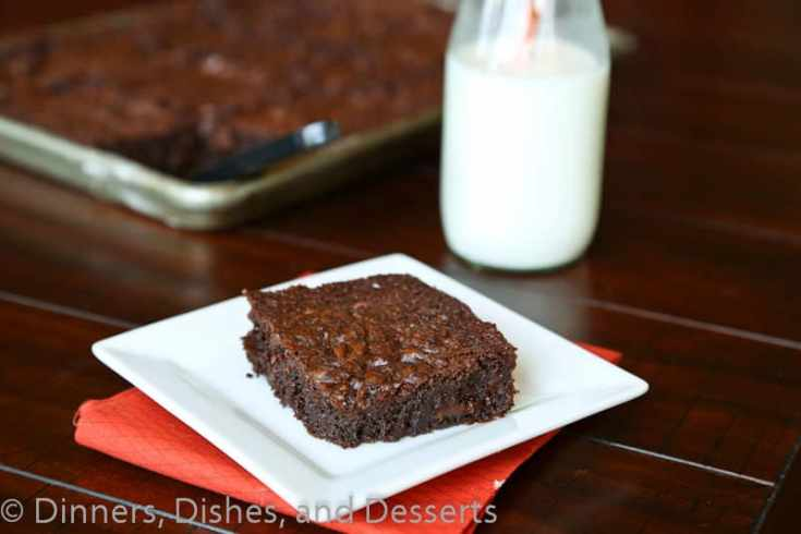 outrageous brownies on a plate