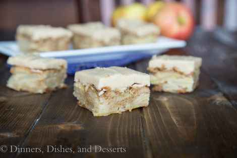 Apple Blondies with Cinnamon Brown Sugar Frosting