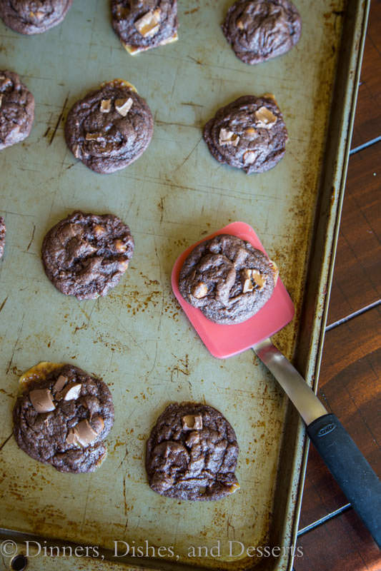 Chocolate Pudding Rolo Cookies