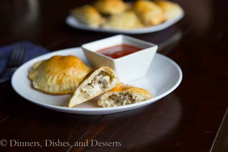 Cheesey Sausage Croutes