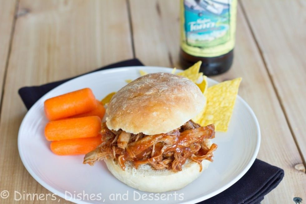 Barbecue Pulled Pork Sandwiches - slow cooker pulled pork that is tender, juicy and delicious. Cooked in a sweet and tangy barbecue sauce for the perfect sandwich!