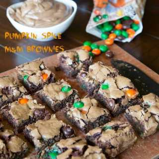 Pumpkin Spice M&M Brownies