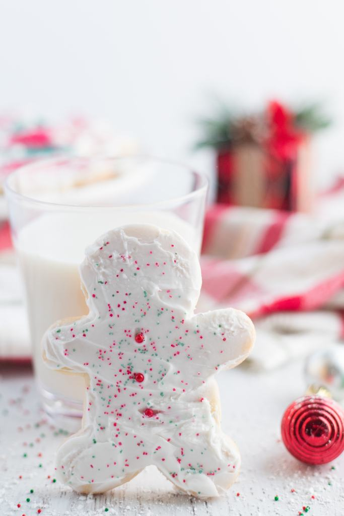 Frosted Sugar Cookies - Soft sugar cookies that are perfect for any occasions.  Decorate with frosting and sprinkles for Christmas or any other time of year.