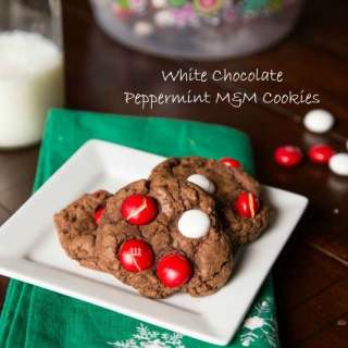 White Chocolate Peppermint M&M Cookies