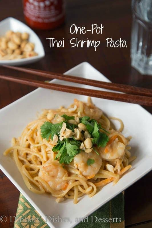 One Pot Thai Shrimp Pasta