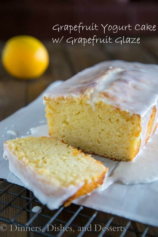 Grapefruit Yogurt Cake with a Grapefruit Glaze | Dinners, Dishes, and Desserts