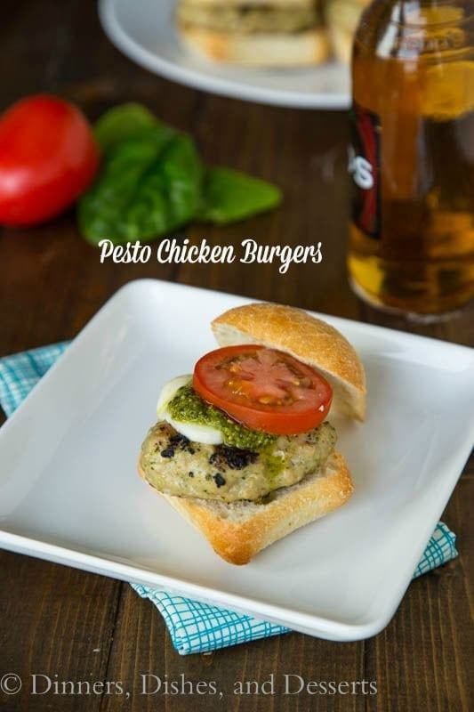 Pesto Chicken Burgers - perfect summer grilling meal!