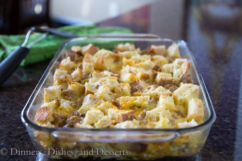 Make ahead Breakfast Sausage Egg Bake | Dinners, Dishes, and Desserts