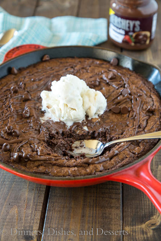 Triple Chocolate Brownie Skillet