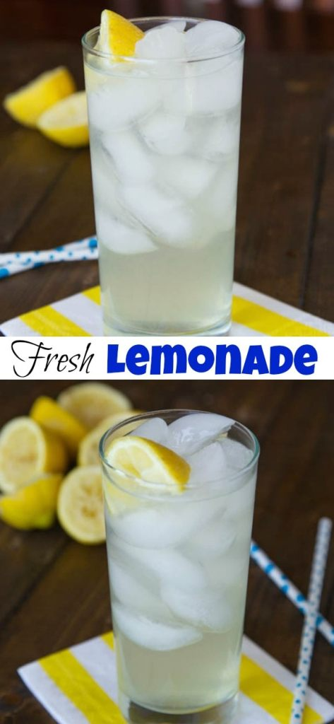 Homemade Lemonade - Nothing beats fresh squeezed lemonade on a hot summer day. Fresh lemons are so much better than any powder or mix there is!