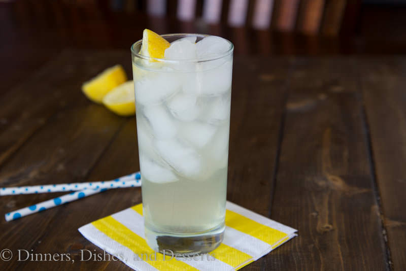 Cool down in summer with a tall glass of Fresh Squeezed Lemonade
