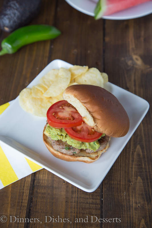 Jalapeno Turkey Burgers - great for summer grilling