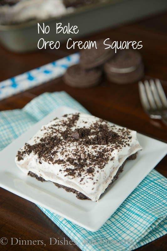 No Bake Oreo Cream Squares