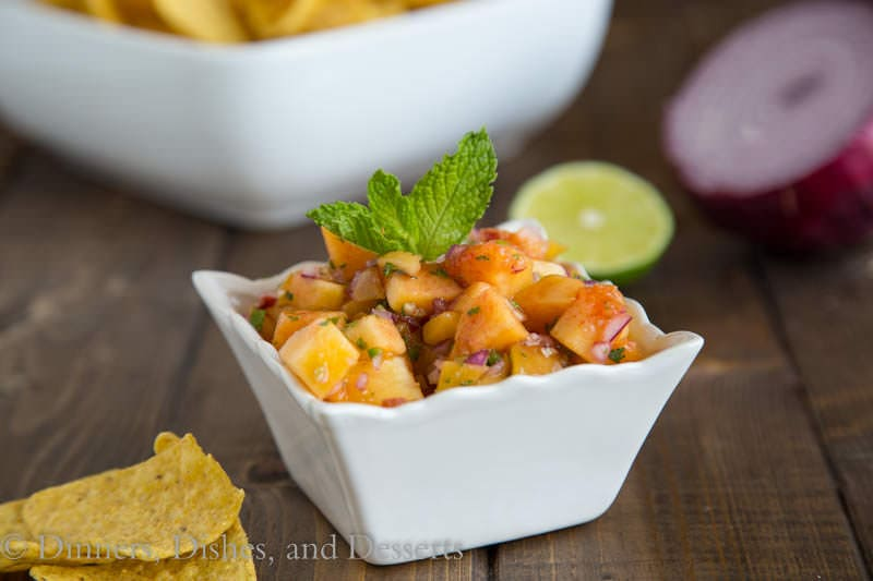 Peach Salsa {Dinners, Dishes, and Desserts}