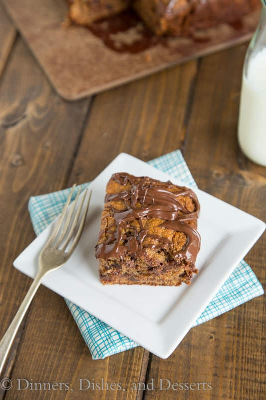 Whole Wheat Peanut Butter Banana Snack Cake - who doesn't love to have cake for a snack!
