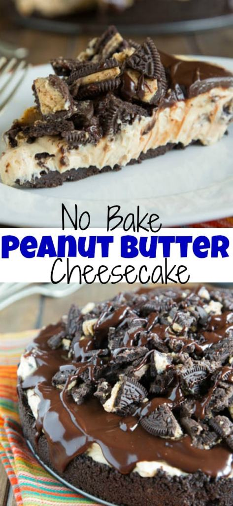 No Bake Peanut Butter Cheesecake Pin