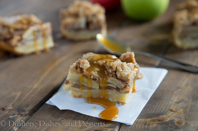 Caramel Apple Pie Bars {Dinners, Dishes, and Desserts}