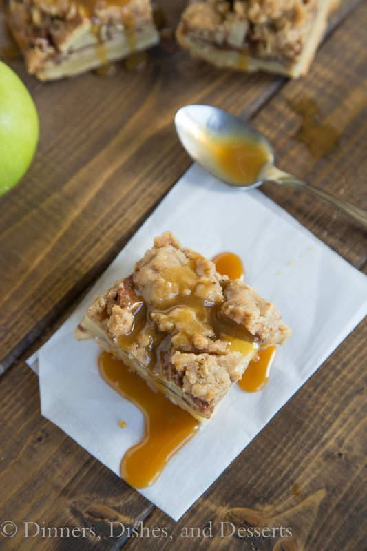 Caramel Apple Pie Bars - perfect dessert to have on hand for fall!