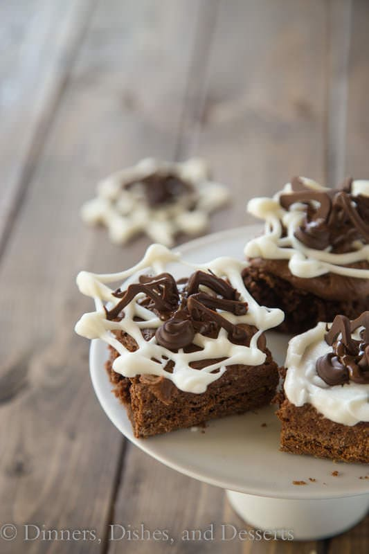 Spooky Spider Brownies are easy to make and fun to have around for Halloween
