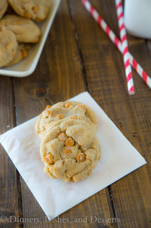 Soft and Chewy Butterscotch Chip Pudding Cookies - super tender and tons of butterscotch