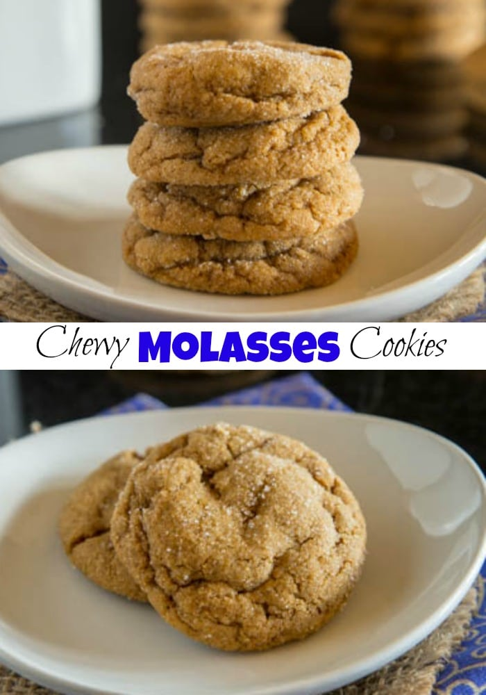 Chewy Molasses Cookies - Perfectly spiced, tender and chewy molasses cookie recipe that are perfect for any holiday baking tray!