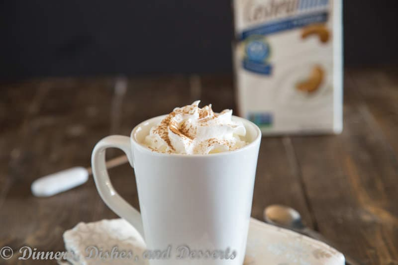 Cashew Milk Pumpkin Steamer {Dinners, Dishes, and Desserts}
