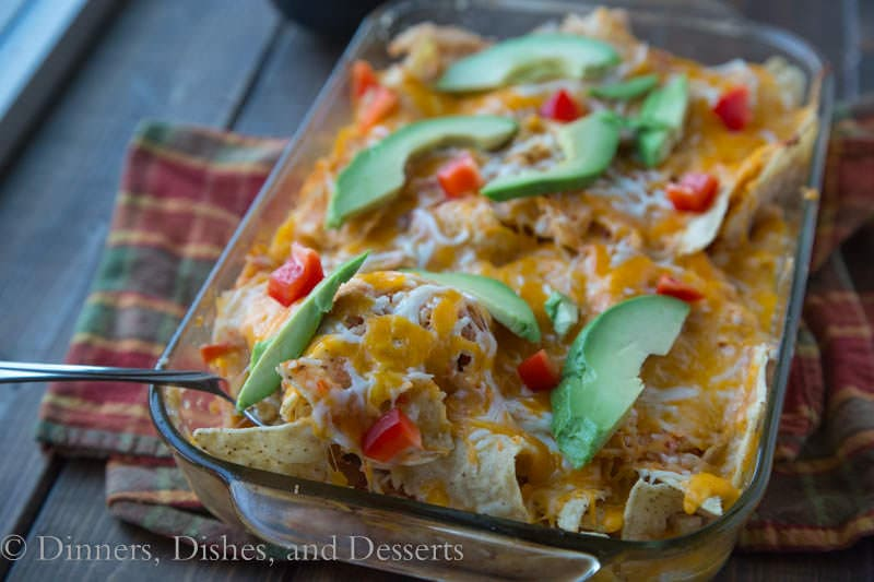 Chicken Chilaquiles {Dinners, Dishes, and Desserts}