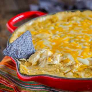 Green Chile Chicken Enchilada Dip