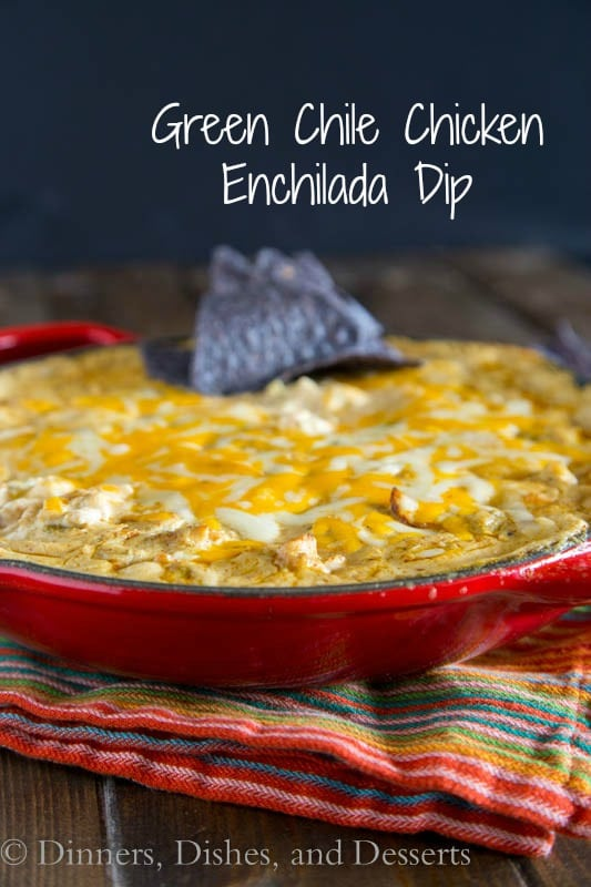 Green Chili Chicken Enchilada Dip