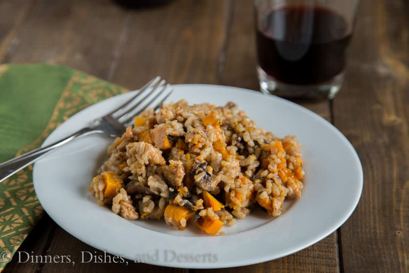Mushroom and Butternut Squash Risotto {Dinners, Dishes, and Desserts}