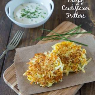Crispy Cauliflower Fritters {Dinners, Dishes, and Desserts}